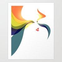 goddess Art Prints featuring Goddess by Noah Ocean
