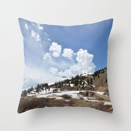 Dancing Clouds Over Sheridan Summit and Black Bear Pass Road Throw Pillow