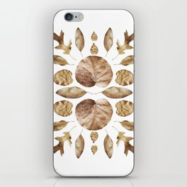 DRIED LEAVES COLLAGE iPhone Skin