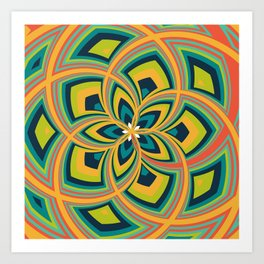 Spiral Rose Pattern C 4/4 Art Print