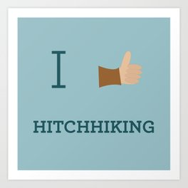I heart Hitchhiking Art Print