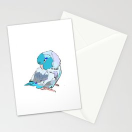 baby blue parrotlet Stationery Cards