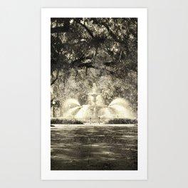 Savannah Flea Market Art Print