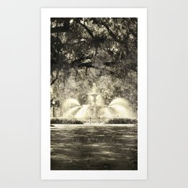 Savannah Flea Market Art Print