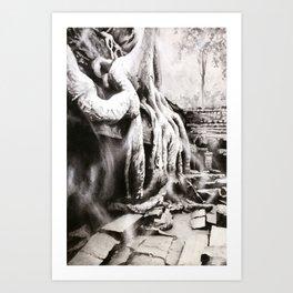 Ta Prohm at Angkor Wat archaeological park- near Siem Reap, Cambodia Art Print