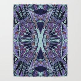 Tribal Pattern Purple Hues Poster