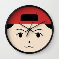 exo Wall Clocks featuring Baekhyun EXO Mascot by teawithgodot