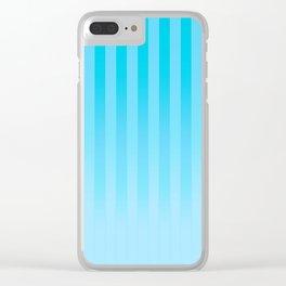 Gradient Stripes Pattern it Clear iPhone Case
