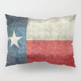 Texas State Flag, Retro Style Pillow Sham