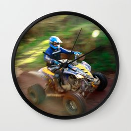 ATV offroad racing Wall Clock