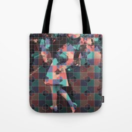 Old love kiss + Hexagon pattern Tote Bag