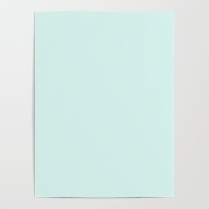 Light Cyan Soft Mint Green Solid Matte Colour Palette Poster By