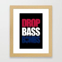 Drop Bass Not Bombs (USA) Framed Art Print