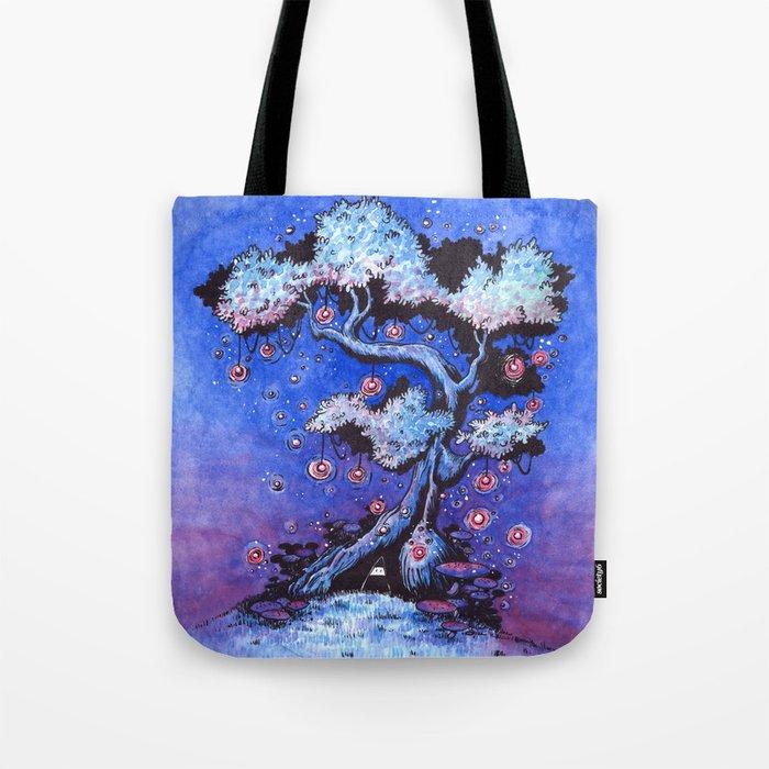 Ninja and the tree of lights Tote Bag