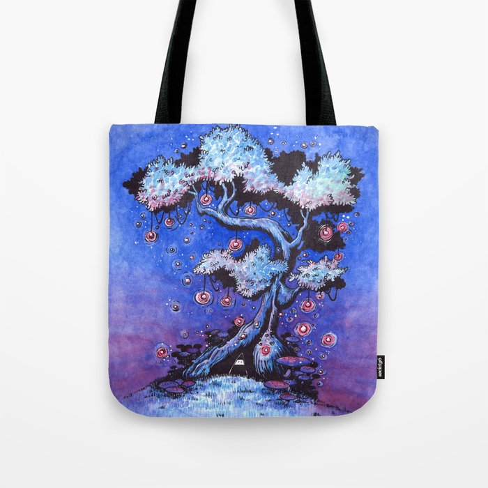 Ninja and the tree of lights Tote Bag