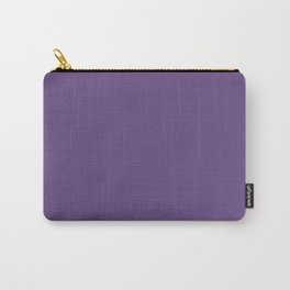 Purple - Solid Color - Deep, Dark, Plum, Jewel Tone Carry-All Pouch