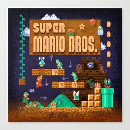 Mario Super Bros Canvas Print