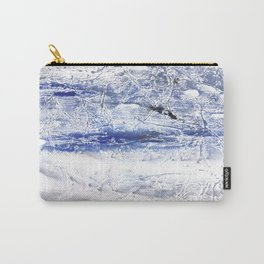 Gray Blue Marble nebulous watercolor Carry-All Pouch