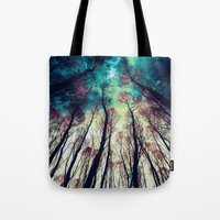 nordic Tote Bags featuring NORDIC LIGHTS by RIZA PEKER
