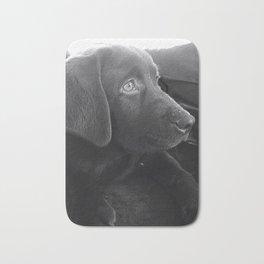 Labrador Puppy Portrait Bath Mat