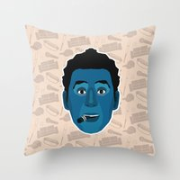 seinfeld Throw Pillows featuring Cosmo Kramer - Seinfeld by Kuki
