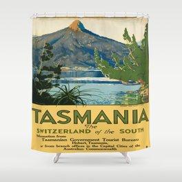 Vintage poster - Tasmania Shower Curtain
