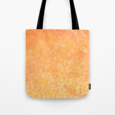 Ombre yellow and orange swirls doodles Tote Bag