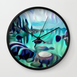Sand Harbor Wall Clock