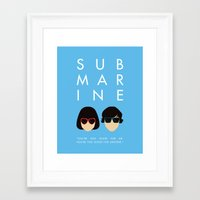 submarine Framed Art Prints featuring Submarine by Loverly Prints