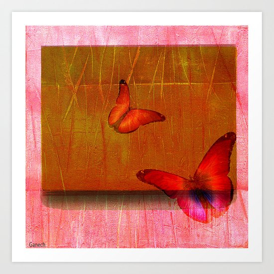The butterflies of the day sunrise Art Print