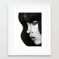 girl Framed Art Prints featuring Girl by BlackNYX