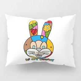 Funny Bunny Popart by Nico Bielow Pillow Sham