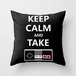Keep Calm and Take Control Throw Pillow
