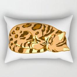 Sleeping Bengal Rectangular Pillow