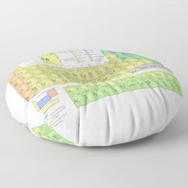 The Periodic Table of Eements Floor Pillow