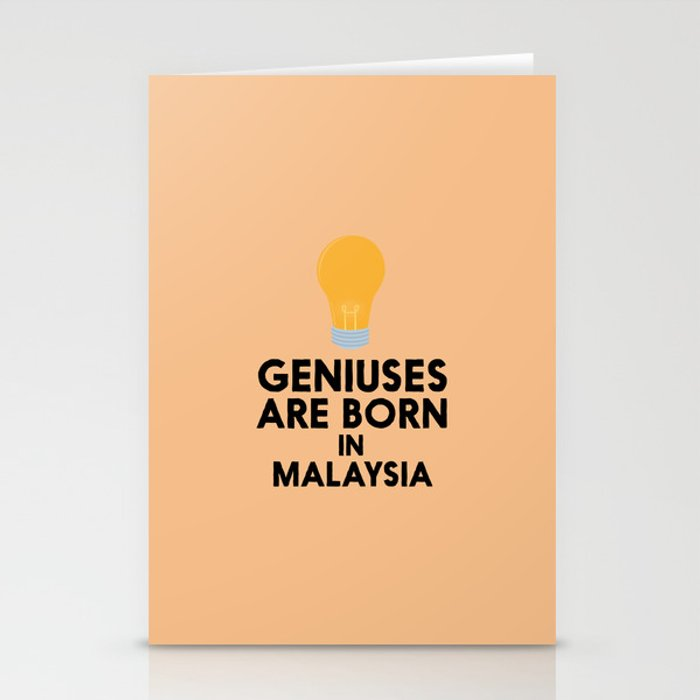 Geniuses are born in MALAYSIA T-Shirt D4gv2 Stationery Cards