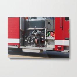 Perrysburg Fire Truck Hoses Metal Print