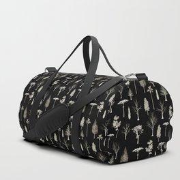 trees pattern Black edition Duffle Bag