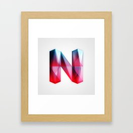 The Letter N Framed Art Print
