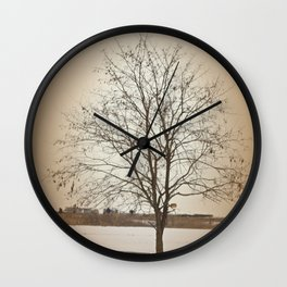 Winter Silence Wall Clock