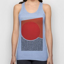 Sunshine And Rain Abstract Unisex Tank Top