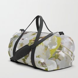 Tiny White Flowers Duffle Bag