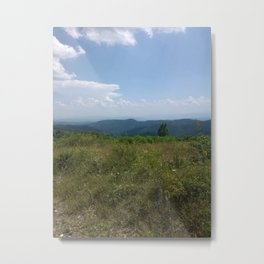 Meadow and mountains in the distance Metal Print