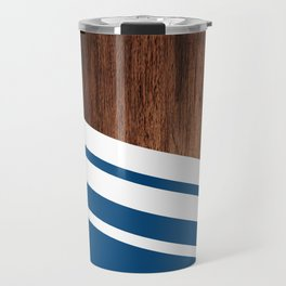 Wood of blue Travel Mug