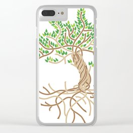 Rope Tree of Life. Rope Dojo 2017 white background Clear iPhone Case