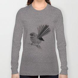Piwakawaka   NZ Fantail Long Sleeve T-shirt