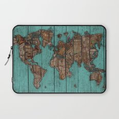 Wood Map Laptop Sleeve