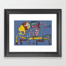 Ballerina riding Framed Art Print