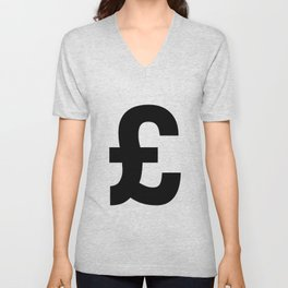 Pound Sign (Black & White) Unisex V-Neck