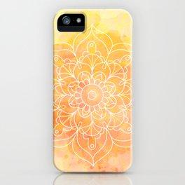 Watercolor Mandala // Sunny Floral Mandala iPhone Case